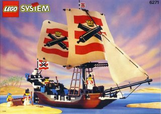 Lego Pirate ship and crew