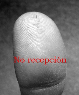Thumb with sign Not Welcome