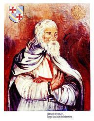 Jacques De Molay, el ultimo de los Templarios, Obra Pictorica dedl Dr. De La Ferriere- Click aqui para verla en grande
