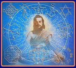 El Maestre De La Ferriere rodeado de simbolos emblematicos de las varias versiones de LA TRADICION.