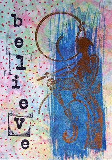 Mail Art ATC sent to Linda Miller from Troy Thomas