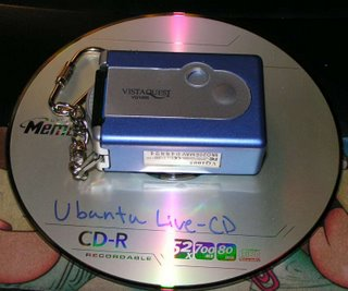 New camera on a CD-R. Click to enlarge.