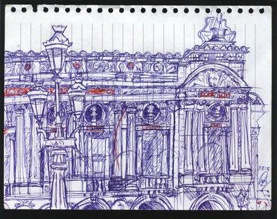 dibujo L'Opera París