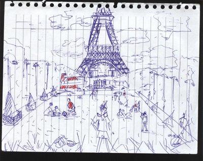 dibujo Champs de Mars París