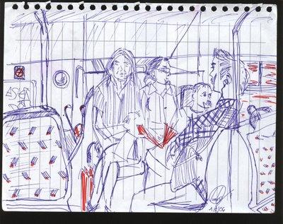 dibujo Les gens de Paris
