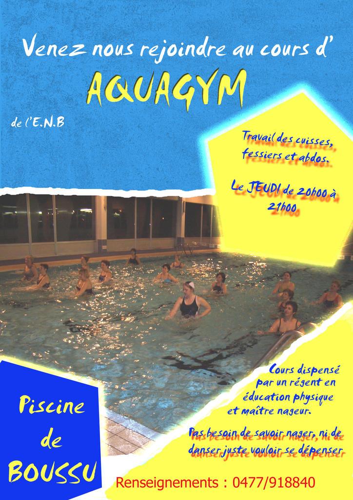 Cours d 39 aquagym for Piscine blomet aquagym