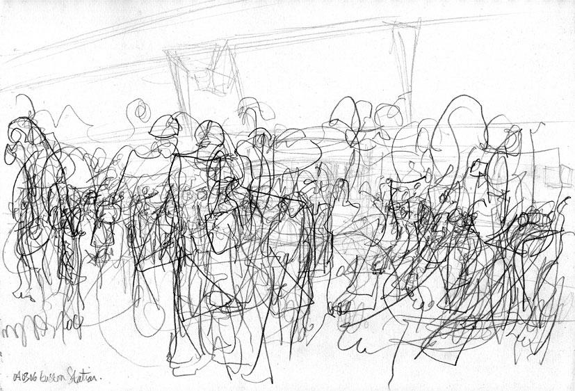 Line Art Movement : Movement chris fraser sketch