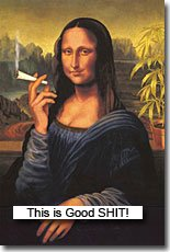 Mona Lisa smokes