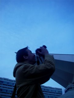 JK taking pictures of the famous tv tower