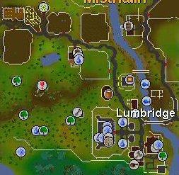 Runescape hints, tips and quests: Lumbridge maps