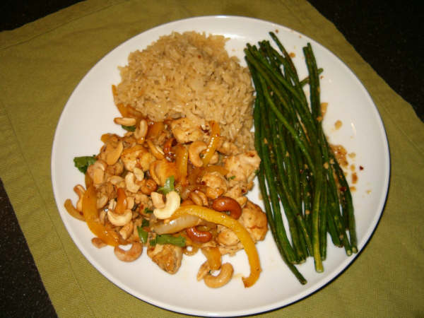 Everything rachael ray its a keeper park city cashew chicken aka i was craving chinese food but i also felt like cooking dinner so this was the compromise it is a utah spin on cashew chicken with chipotle peppers forumfinder Image collections