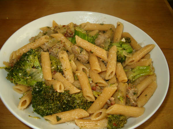 Its A Keeper Pasta With Broccoli And Sausage Ricotta Surprise