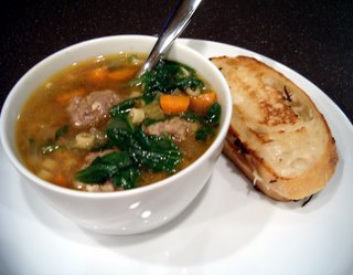 It's A Keeper: Mini-Meatball (Italian Wedding) Soup and Grilled 4 Cheese Sammies