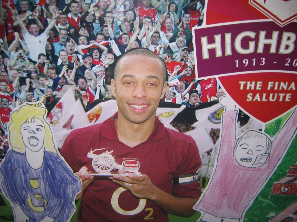 Highbury soccerphile blog for Arsenal mural emirates