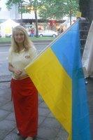 Ukrainian girl flies the flag