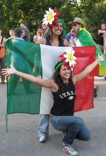 Italian fans celebrate