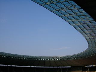 The new roof at the Olympic Stadium, Berlin