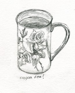 Sketch of a cup of tea