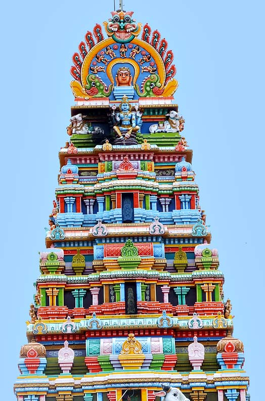 Kovil Raja Gopuram Side View of Raja Gopuram