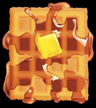 ... Recipes: Sweet Potato Waffles/Cranberry Syrup and Hazelnut Butter