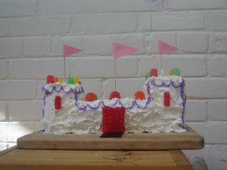 Princess Diamond the golden kitty's castle birthday cake