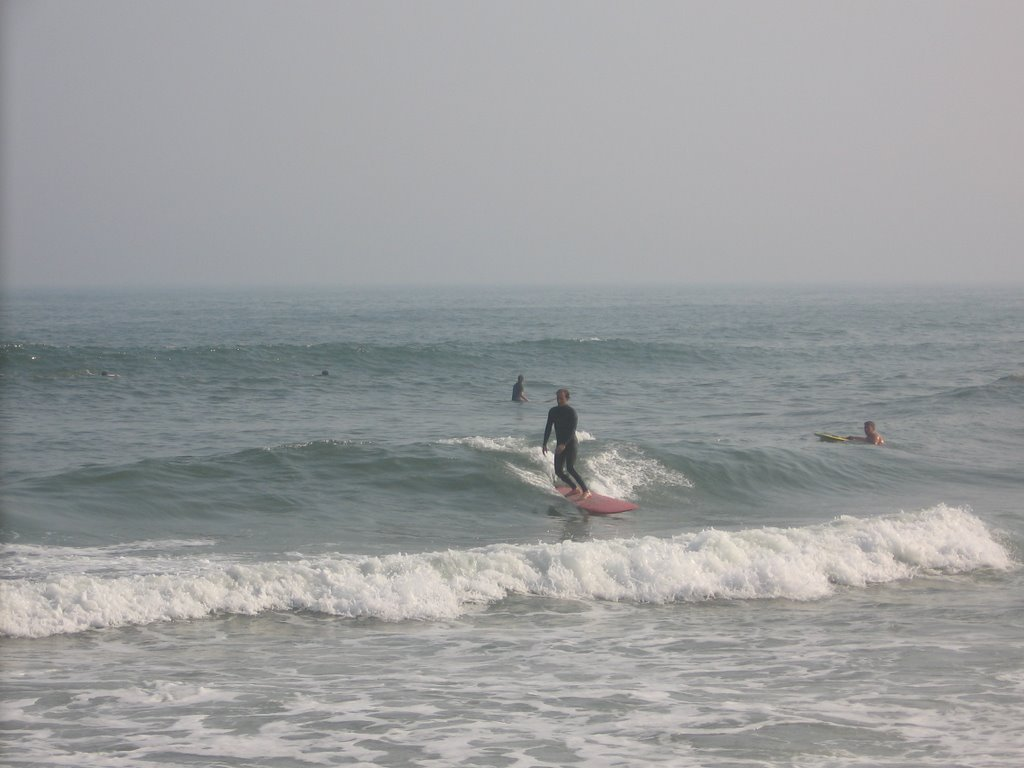 Surfing At Ponquogue Beach Hampton Bays July 3rd