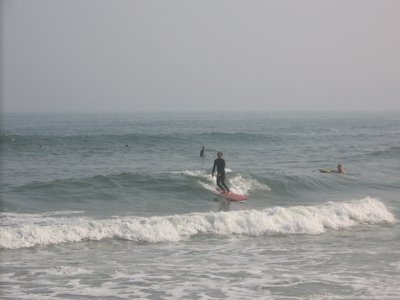 Surfing at Ponquogue Beach, Hampton Bays, July 3rd
