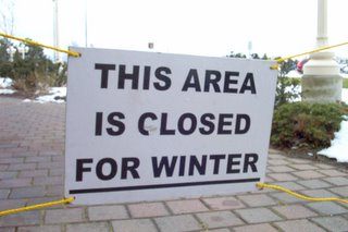 Sign: This Area is Closed for Winter