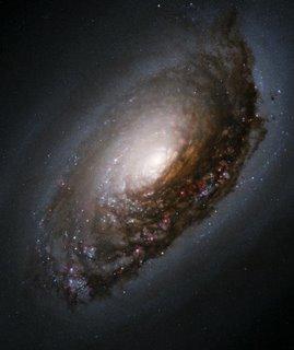 galaxia em redemoinho negro com centro brilhante