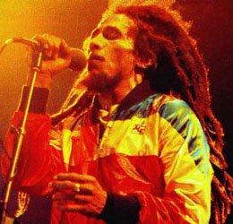 El rey del reggae en plena actuación
