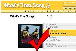 This is what you'll probably see if you type Eric B and Rakim in to the search box.
