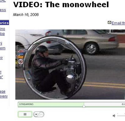 The Mental monowheel. Video.