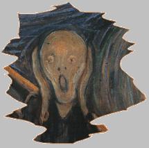 reinterpretazione urlo di Munch