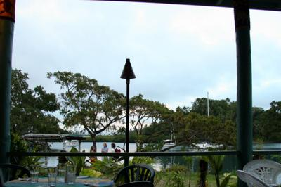 photograph picture from the terrace of Bula Re restaurant in Savusavu, Fiji