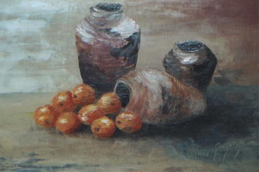 Jorgelinagonz lez pinturas al leo bodegones y frutas - Cuadros con peces ...