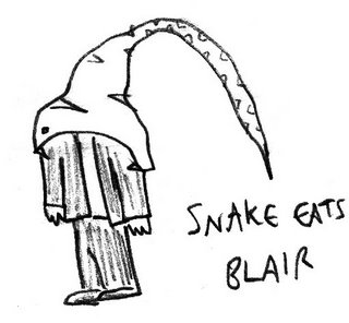 SNAKE EATS BLAIR