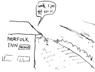 NORFOLK INN: vacancies PROPRIETOR: Well, I just don't GET IT.