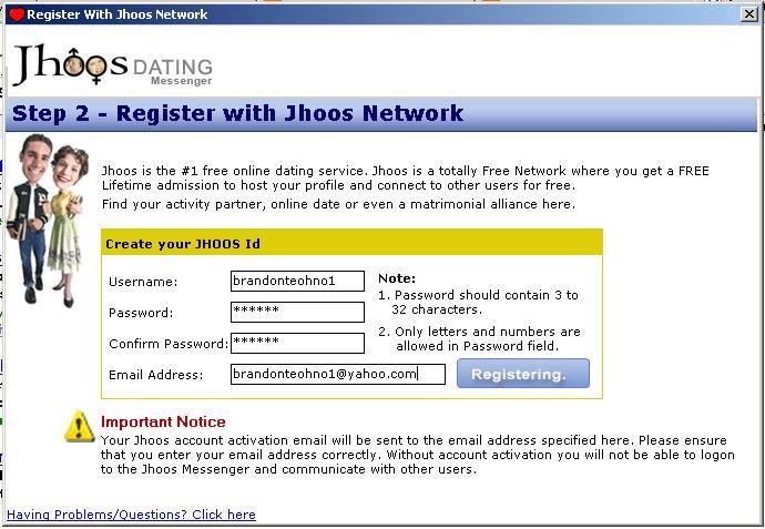 Jhoos dating messenger