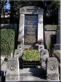 Theodor Herzl's tombstone Stars of David
