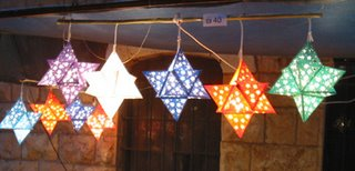3D Star of David folded Sukkah Lampshades