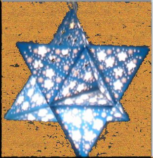 Sukkah Lampshade New Model Blue magen david