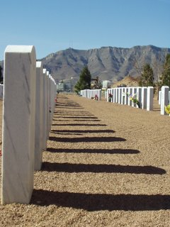 Cemetery & Mountains