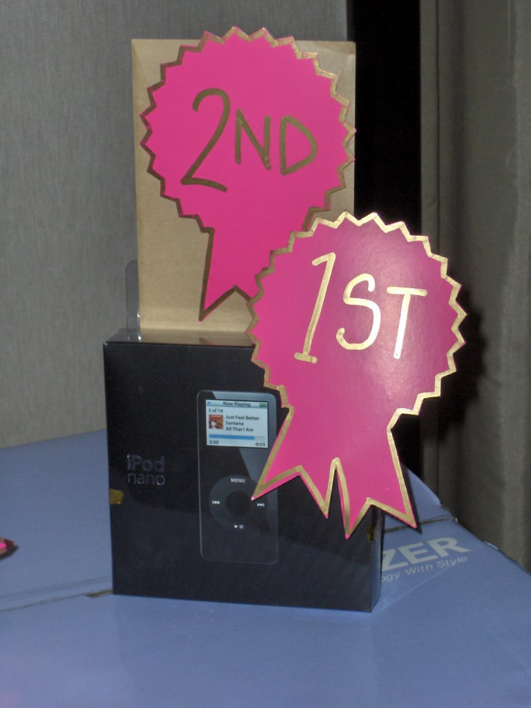 luck was not on my side as i came home empty handed although the black 2gb ipod nano 1st prize was really attractive