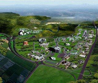 The Cybercity high tech park.