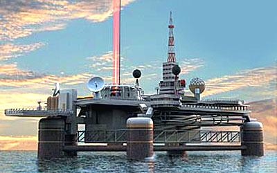 SPACE ELEVATOR PACIFIC OCEAN PLATFORM