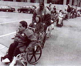 Disability Activists at an ADAPT protest