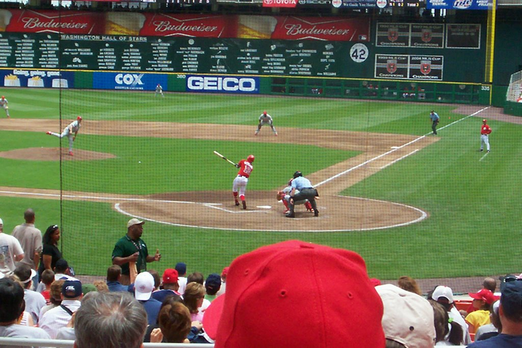 Girl living in an extraordinary world the view from behind home plate