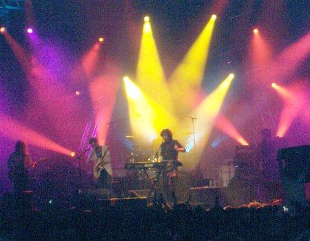 Andrés Calamaro y Ariel Rot en el concierto de Barcelona