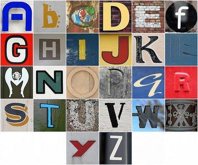 Alphabet photosets