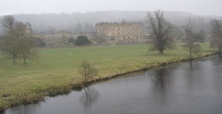 chatsworth house in the snow